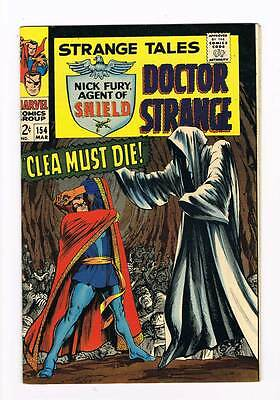 Strange Tales # 154  Nick Fury  Doctor Strange grade 8.5 scarce hot book !!