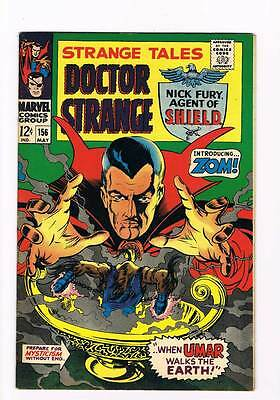 Strange Tales # 156  Nick Fury  Doctor Strange grade 8.5 scarce hot book !!
