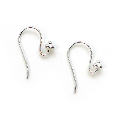 2pcs - 1 pair Earwire for Crystals 27mm Sterling Silver Fancy Long Hooks