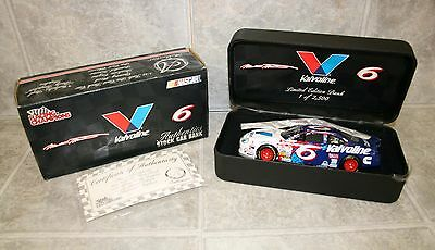 Mark Martin #6 Valvoline Limited Edition Die Cast Bank 1:24 1/ 2500 MINT w/COA