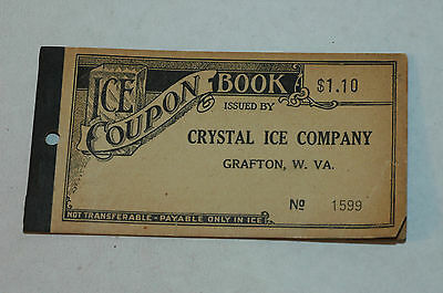Antique Crystal Ice Coupon Book Cover only