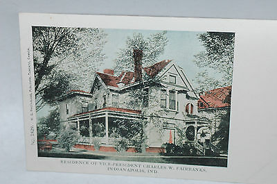 Residence of Vice-President Charles W.Fairbanks Indianapolis, Ind Post card