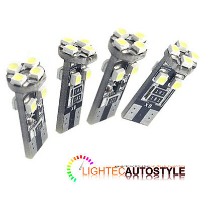 4x CANBUS ERROR FREE 8 SMD LED XENON HID PURE WHITE W5W T10 501 SIDE LIGHT BULBS