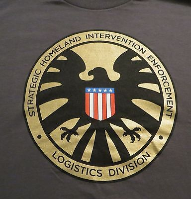 Agents Of Shield Medallion Xl X-Large T-Shirt New S.h.i.e.l.d. Tee