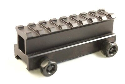 """1"""" Inch 8 Slot Riser Mount See-Through Design for Flat Top Rifles"""