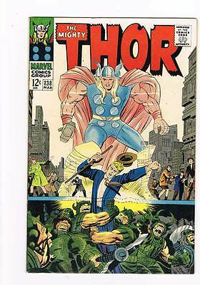 Thor # 138  The Flames of Battle !   grade 8.5 scarce hot book !!