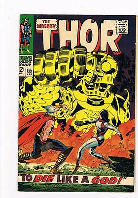 Thor # 139  To Die Like a God !   grade 8.5 scarce hot book !!