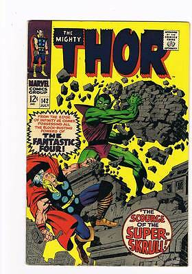 Thor # 142  Scourge of the Super-Skrull !  grade 8.5 scarce hot book !!
