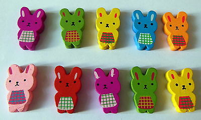 Bunny Rabbit Beads Large Wooden 29mm for Jewellery Making & Craft