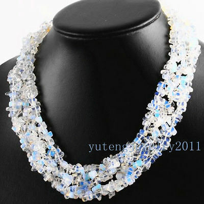 BBB669 Wholesale Beautiful Opal Opalite Chip Necklace 17.5 inch