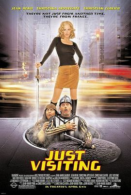 Just Visiting - original DS movie poster - 27x40 D/S - Applegate