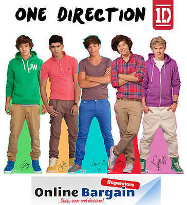 "1D One Direction Mini Standup Standee 12"" Table Desk Top Cardboard Cut Out"