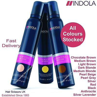 Indola Colour Mousse For Hair. All colours stocked. Temporary Hair Colour 200ml
