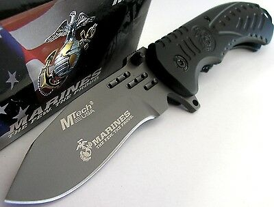 MTech USMC Marines Tactical Garrison Titanium Spring Assisted Opening Knife