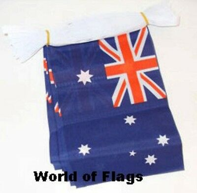 6m AUSTRALIA FLAG BUNTING Australian Day 6 Metre Fabric Party Flags Oceania