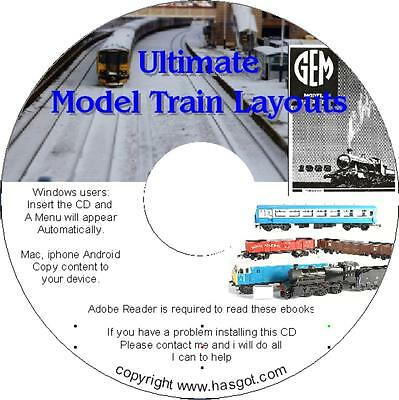 Model Train Layout CD~Printable Track Designs~Buildings Mags+ Sounds & Software