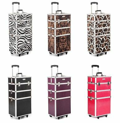 Urbanity beauty cosmetic makeup hairdressing nail manicure trolley case box bag