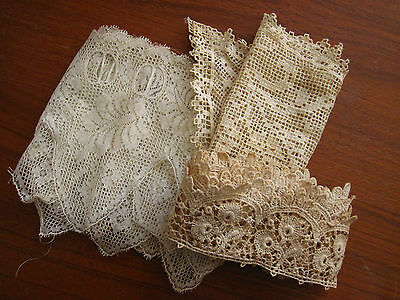 Heirloom antique lace - lot of 3 // Free shipping