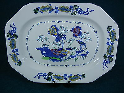 "Copeland Spode Multi-Colored Bude 2/7696 Rectangular 14 1/2"" Serving Platter"