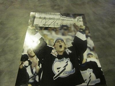 Vinny Lecavalier Tampa Bay Lightning signed Stanley Cup 8x10 Photo COA