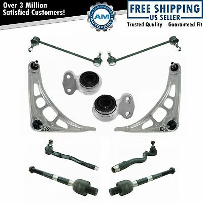 Front Lower Control Arms Tie Rod Ends Sway Bar Links Suspension Kit Set for E46