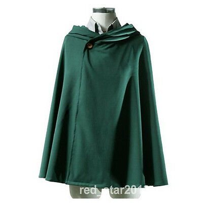 US Attack on Titan Anime Kyojin Cosplay Costume Grade Cape Cloak Windbreaker