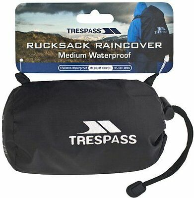 Trespass Rucksack Raincover Waterproof 10-25L,35-50L & 60-75 Backpack Rain Cover