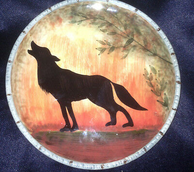 Certified International Susan Winget Wilderness Howling Wolf Dog Salad Plate