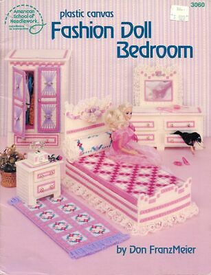 PATTERN Fashion Doll Bedroom for Barbie Plastic Canvas -30 Days To Shop & Pay!