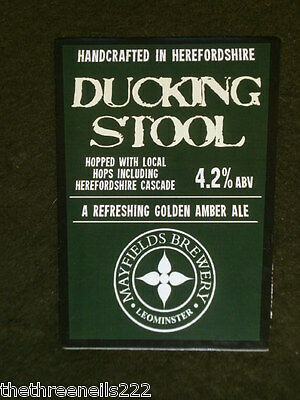 Beer Pump Clip - Mayfields Ducking Stool