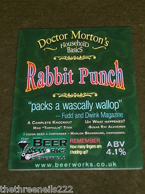 Beer Pump Clip - Doctor Morton's Rabbit Punch