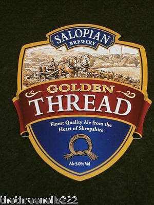 Beer Pump Clip - Salopian Golden Thread