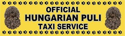 HUNGARIAN PULI OFFICIAL TAXI SERVICE Dog Car Sticker  By Starprint
