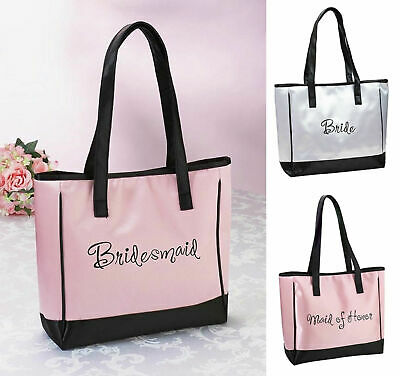 NEW Bride Bridesmaid Maid of Honor Tote Bag Wedding Bridal Party Gift Favours