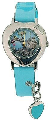 Childrens-Girls Analogue Me To You Tatty Teddy Blue Strap Watch With Charm MTY3B