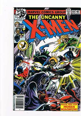 X-Men # 119  Make Way For Moses Magnum !  grade 8.0 scarce hot book !!