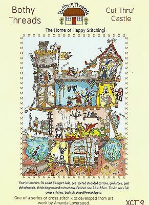 Bothy Threads Cut Thru Castle Counted Cross Stitch Kit - New