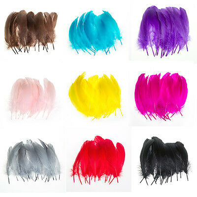"""100pcs Beautiful Goose Feathers 4-6"""" 10-15cm  High Quality"""
