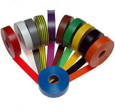 1PC  High Quality Electrical PVC Insulation Insulating Tape -18mm 5colors U Pick