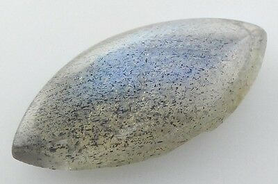 UNUSUAL 16x8mm MARQUISE-CABOCHON NATURAL AFRICAN LABRADORITE GEMSTONE