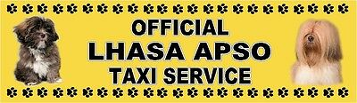 LHASA APSO OFFICIAL TAXI SERVICE  Dog Car Sticker  By Starprint