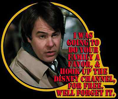 """80's Comedy Classic Spies Like Us """"Disney Channel For Free"""" custom tee Any Size"""
