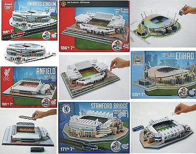 Construct Premiership Football Stadium 3D Jigsaw Puzzle Age 7+ New Soccer Gift