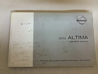nissan altima 2002 owners manual with jacket 9 99 picclick rh picclick com 2002 nissan altima 3.5 se owners manual 2009 Nissan Altima Manual PDF