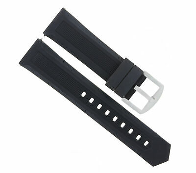 20Mm Rubber Watch Band Strap For Tag Heuer Formula F1 Black