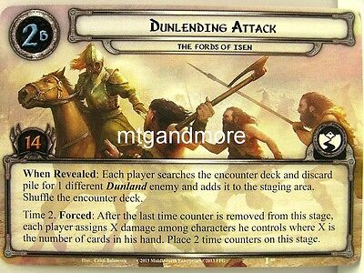 Lord of the Rings LCG  - 1x Dunlending Attack  #060 - The Voice of Isengard