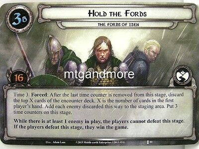 Lord of the Rings LCG  - 1x Hold the Fords  #061 - The Voice of Isengard