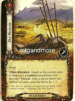 Lord of the Rings LCG  - 1x Old Hatreds  #045 - The Voice of Isengard