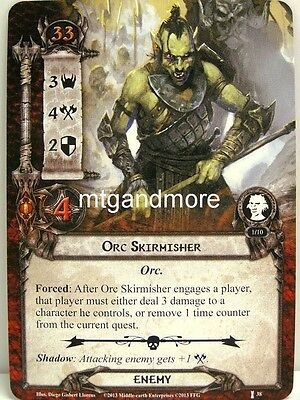 Lord of the Rings LCG  - 1x Orc Skirmisher  #038 - The Voice of Isengard