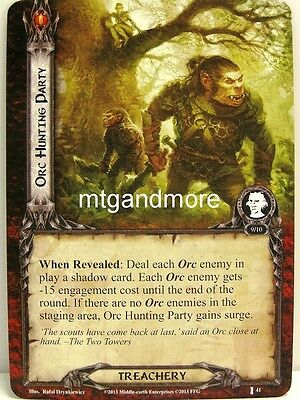 Lord of the Rings LCG  - 1x Orc Hunting Party  #041 - The Voice of Isengard